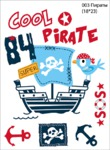 Арт. 003 (Пираты) Эластичный термотрансфер р/листа 23*18
