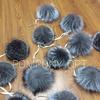 Помпон из меха чернобурой лисицы 14-16 см