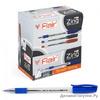 Ручка шариковая ''Flair'' ZiING пластик, 3-хгранн. корп. синяя F-1151