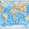 Политическая карта мира 230x150, ламинированная карта