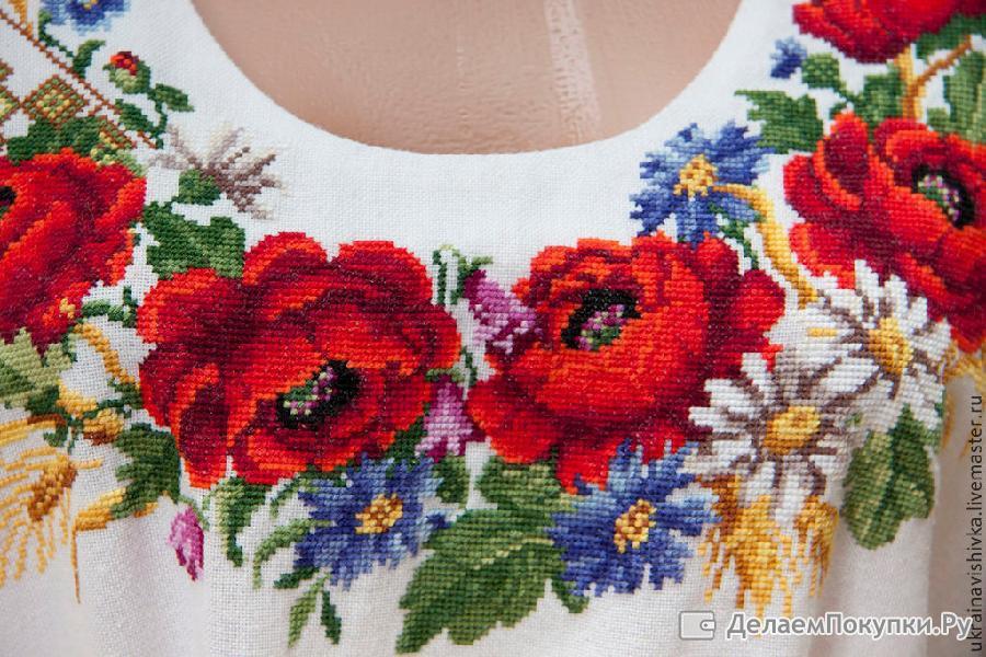 Вышивка на заказ платья