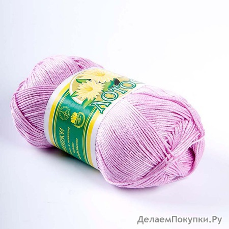 Пряжа для вязания крючком лотос