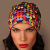 Шапка женская Разноцветные фишки
