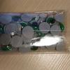 Глазки бегающие клеевые с ресницами 12 мм зеленые