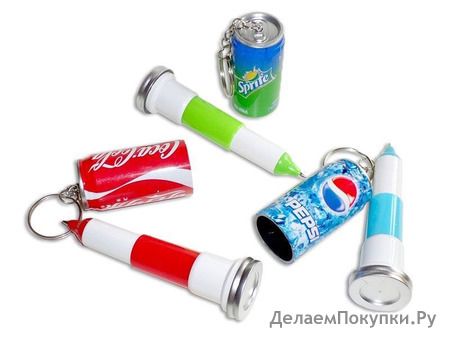 Брелок-ручка банка газировки