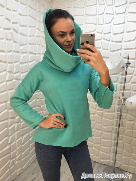 Пуловер с капюшоном женский с доставкой