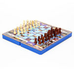 Набор игр 3 в 1 (шашки, шахматы, нарды), 34х17х5,5см, МДФ, пластик, дерево