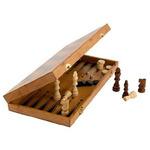 Набор игр 3 в 1 (шашки, шахматы, нарды), МДФ, 40х40см, 7913