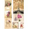 Набор карт для декупажа А3''Цветы в Париже''54г/м2,5шт 01-0006-1