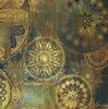 Набор карт для декупажа А4''Золотые звезды на зеленом''54г/м2,5шт 27-0226