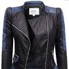 Куртка женская, Кожа + Джинсы Bufki #102