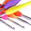 Крючок вязальный с силиконовой ручкой