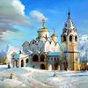 Картины-раскраски по номерам 40*50 GX 3537 Церковь под снегом