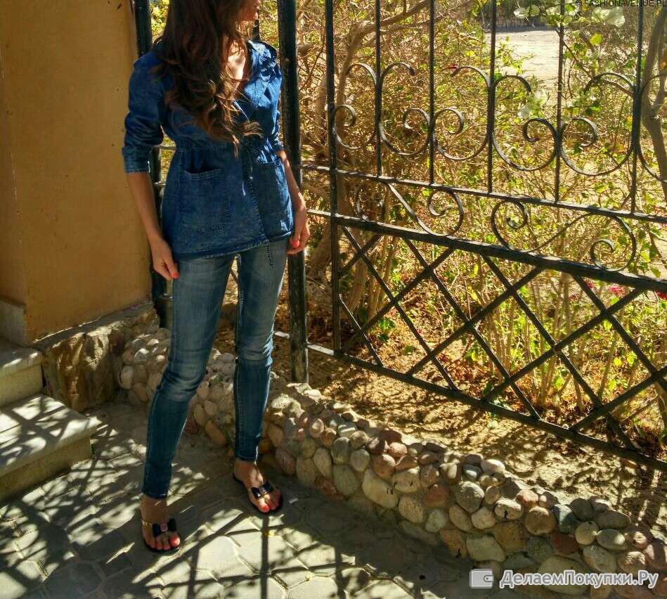 Парка джинсовая женская весенняя