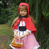 Masterpiece Dolls-Little Red Riding Hood-Lt Brown With Blue Eyes By Monika Levenig Collectible Doll
