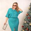 Дизайнерская одежда 48+ (10 дней): Платье Надин голубой