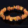 Браслет из янтаря лечебка крошка коньячный, кофейный Артикул:0925068
