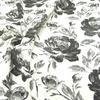ЖАККАРД хлопок Розы 2903 молочный с черным ЦЕНА ЗА 1 М (52%хлопок 48%полиэстер) 140см Китай