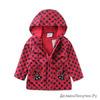 Плащики курточки для малышек в грошек с трикотажной подкладкой прохладное лето теплая весна осень Красная Божья Коровка 92 см