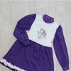 Платье Пчела с цветком фиолетовое