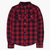 Girls (7-16) Long Sleeve Plaid Western Top