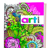 Блокнот-раскраска. Цветы (малиновая) ст.30