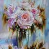 "Картина по номерам оптом ""Белые розы"": GX9899 (40x50)"