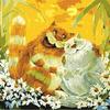 """РН GХ3183 """"Кот с кошкой в ромашках"""", 40х50 см"""