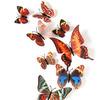 Набор декоративных 3D бабочек 12 шт (коричневые)