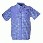 Рубашка для подростков оптом B911 бирюзовый
