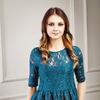 Блузка кружевная цвет изумруд