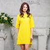 Платье свободного кроя цвет желтый