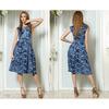 Платье летнее с поясом на завязках №5268 синий