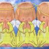 """Рисунок на габардине для вышивки бисером Арт. РС-345 """"Три ангелочка"""""""