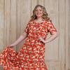 платье ВАСИЛКА яблочки (р-ры 52-66)