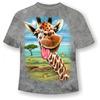 Подростковая футболка Жираф веселый ММ  Светится в темноте