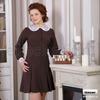 """Платье """"Яна"""" (длинный рукав, с воротником и манжетами, плательная ткань)"""