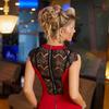 Платье красное 7460