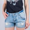 Шорты женские короткие, джинс 487K001