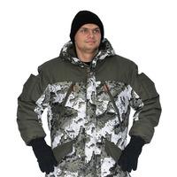 """Костюм зимний «ГРАСК» куртка/полукомб. цвет: кмф """"белые соты""""/т.олива, ткань: Алова/Финляндия"""