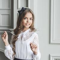 Блузка школьная, р 128