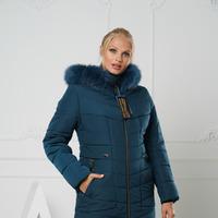 Зимние куртки женские с натуральным мехом на капюшоне 44,46,48,50,52,54,56,58