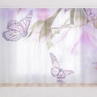 Фототюль Сиреневые бабочки