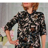 Блузка 104-1 черная