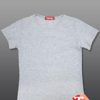 Футболка для девочки, серый меланж, размер 152 (маломерит)