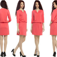 1447 Платье Абрикосовый