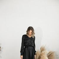 Платье макси из искусственного шелка
