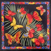 "Платок шелковый (атлас) ""Фиджи"", вид 18, 89х89 см Рисунок 1137-18"