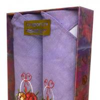 Носовые платки женские в подарочной упаковке КРАСНАЯ КОРОБКА 2 пр р-р 30х30
