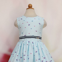 Платье детское Аделина, цвет голубой, размер 26/98-104